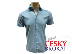 Košile Pure KR 100% ba modrá