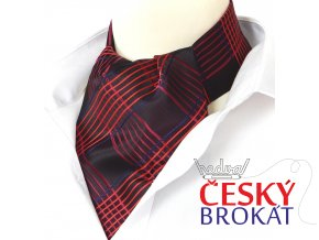 18100076 kravatosala ASKOT polyester karo cerna cervena