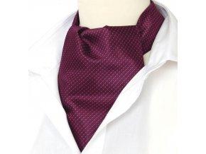 18100212 kravatosala ASKOT polyester fuchsiova geometrie