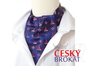 18100363 Askot kravatosala nanornicka kruh plachetnice modra
