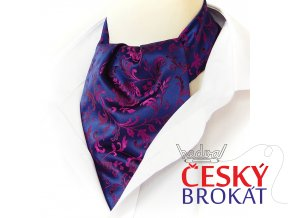 18100420 kravatosala ASKOT brokatovy vzor MODRA