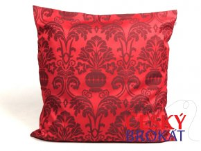 23500203 dekoracni polstar brokat KALICH cervena