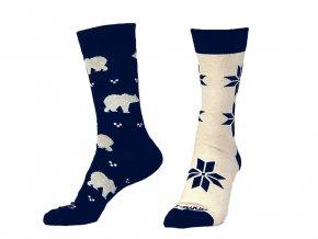 12535 ponozky fusakle polarnik modra smetanova 1
