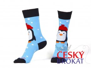 110201 ponozky fusakle tucnak pingu modra 1