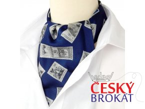 kravatosala askot postovni znamky modra