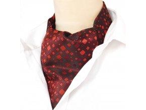 kravatosala ASKOT cervena ctverecek