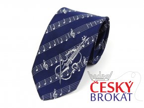 51402395 kravata housle modra 1