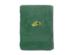 rucnik s vysivkou klobouk zelena 1