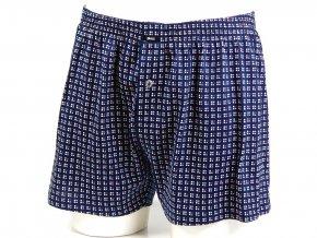 Boxer volný pánské modrá/bílá-červená kostička