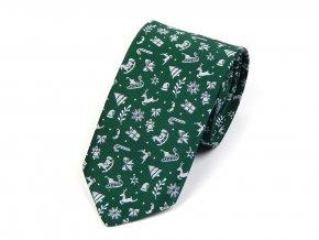 51401980 kravata vanocni zelena