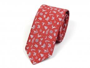51401981 kravata vanocni cervena