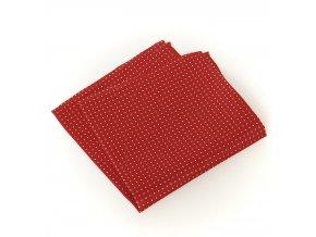 57400135 KAPESNICEK HEDVABI cerveny tisk puntik bily 1