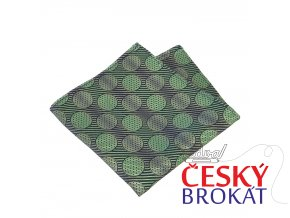 57400174 souprava hedvabi zelena kolecko kapesnik