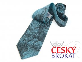 51402363 kravata kone perokresba tyrkys 1