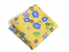 57401253 kapesnicek hedvabi floral zluty