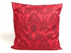 23500230 dekoracni polstar brokat KALICH cervena