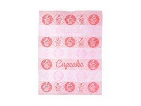 Utěrka bavlna/len 50x70 Cupcake