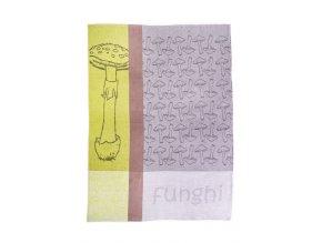 Utěrka bavlna/len 50x70 Houby