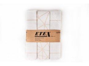 Utěrka česaná egyptská bavlna 50x70 3 ks síť béžová