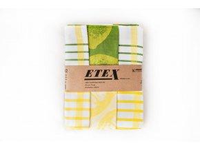 Utěrka česaná egyptská bavlna 50x70 3 ks citrón zelená/žlutá