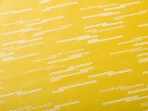 R5989 čárky žlutá detail