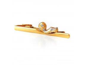 kravatova spona zlata FOTBAL 1
