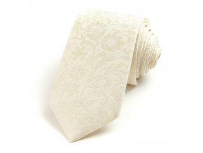 51400944 kravata floralni smetanova 1