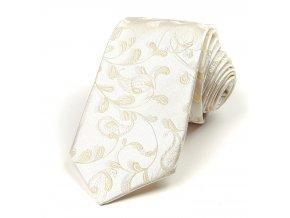 51400946 kravata floralni smetanova 1