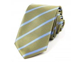 51401168 kravata polyester pruh zelena