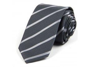 51401272 kravata pruh seda