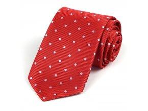 51400271 kravata puntik cervena