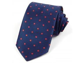 51401121 kravata puntik modra
