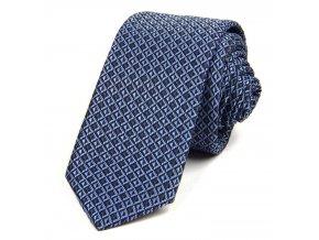 51401274 kravata mrizka modra