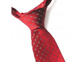 Kravata ČH 8 cm obdelník červená