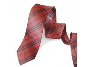 Kravata ČH 8 cm pruh červené
