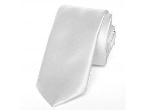 Kravata PESh 8 cm satén bílá