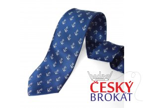 Kravata PESh 8 cm kotva modrá