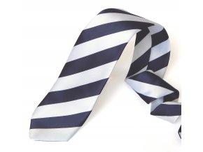 kravata PRUHY MODRA BILA 1