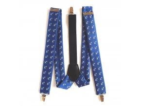 Námořnické šle dětské PESh 053 KOTVA modrá