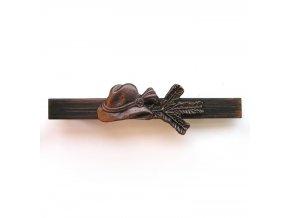 Myslivecká kravatová spona KLOBOUK