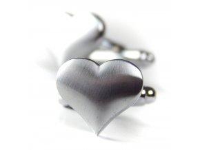 manzetove knoflicky srdce stribrne 1