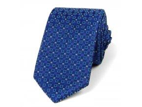 51400603 kravata polyester geometrie modra