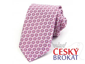 51401385 kravata kyticka ruzova