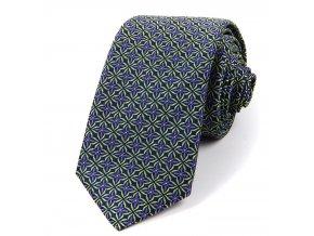 51401406 kravata floral fialova zelena