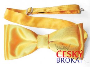 53400630 motylek polyester saten zlata zluta