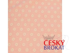 Plátno-tisk kytička růžová 100%bavlna, š.140