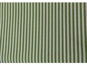 Plátno-tisk, pruhy zelená 100%bavlna, š.140
