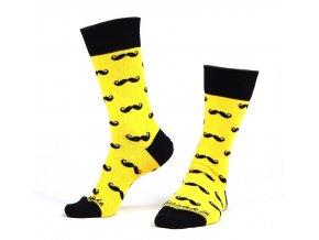 ponozky fousac zluty 3a