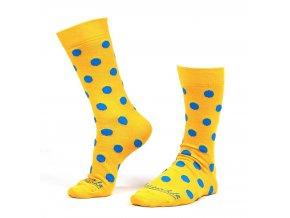 Ponožky puntík velký žlutý