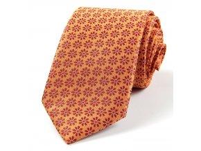 51401444 kravata kytka oranzova vinova